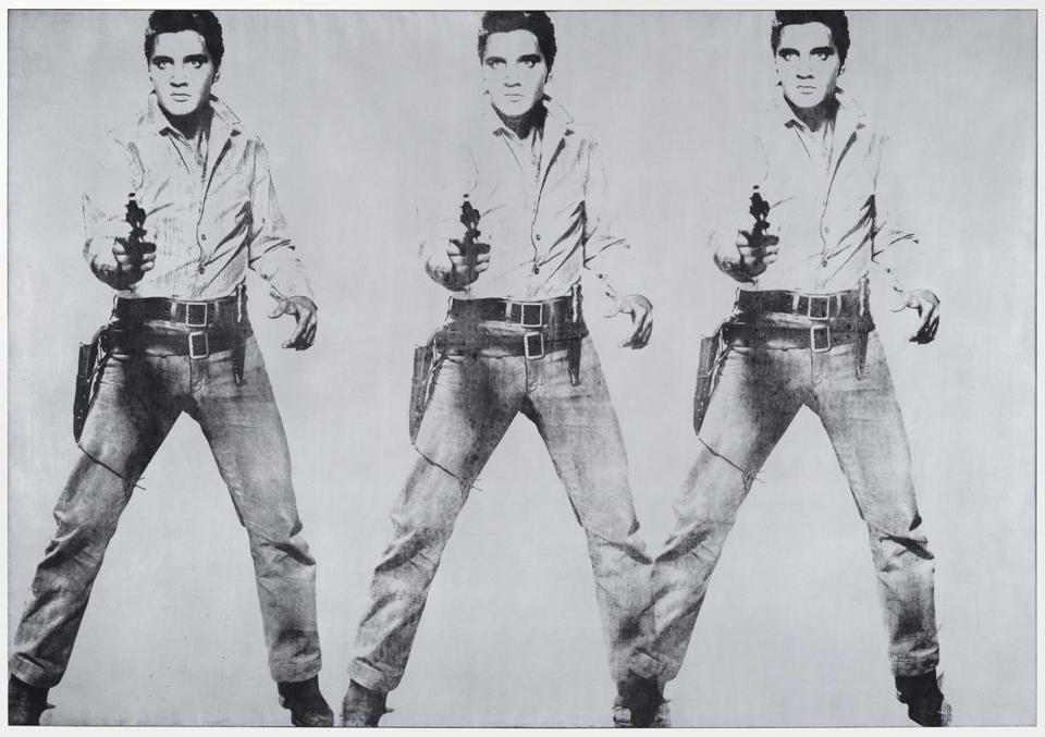 "Andy Warhol's ""Triple Elvis."""